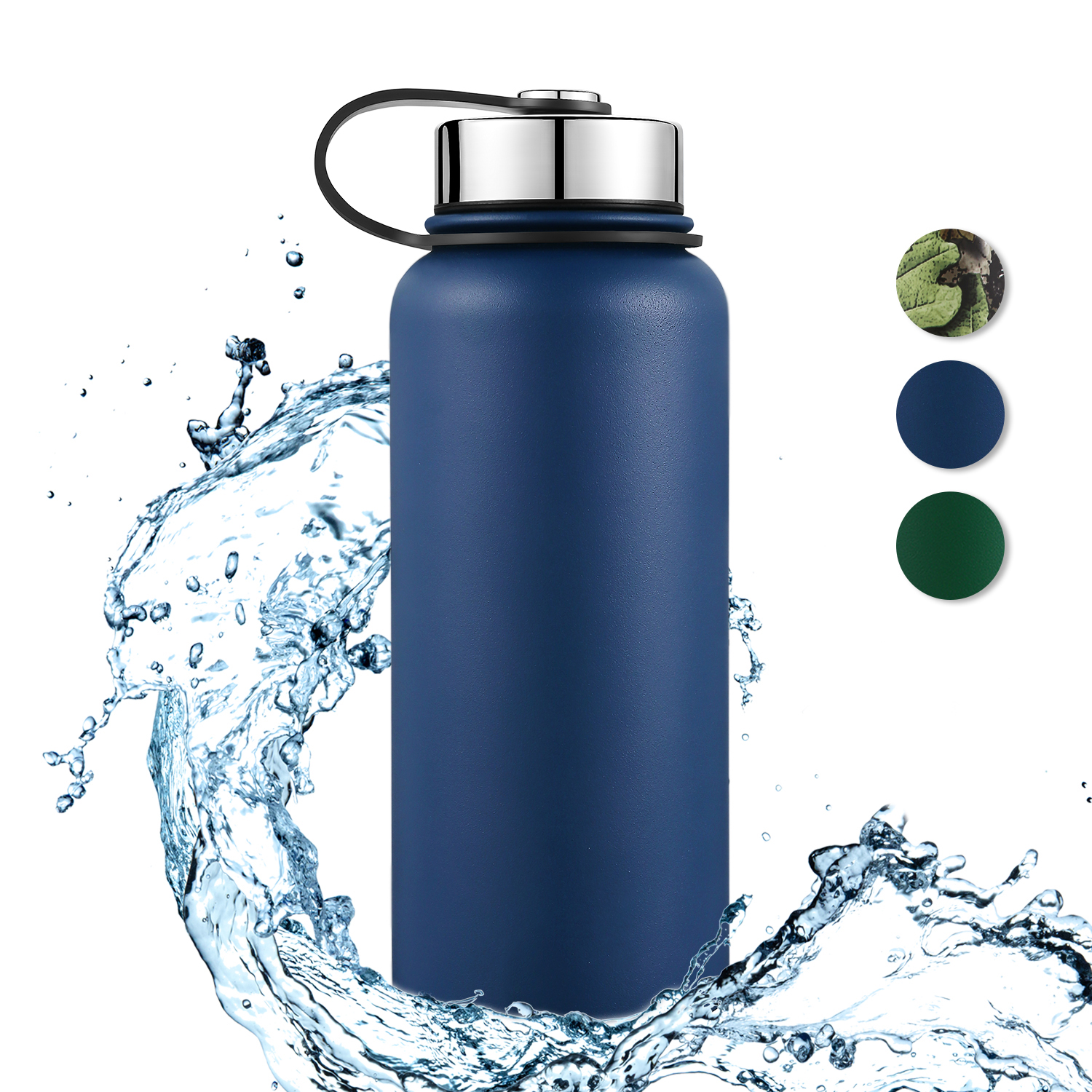 32 OZ Double Wall Stainless Steel Insulated Wide Mouth Water Bottle