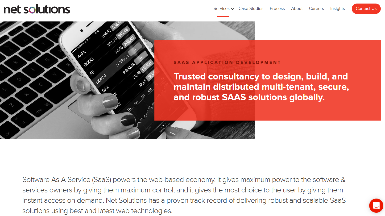 Expert saas software development company - Net Solutions