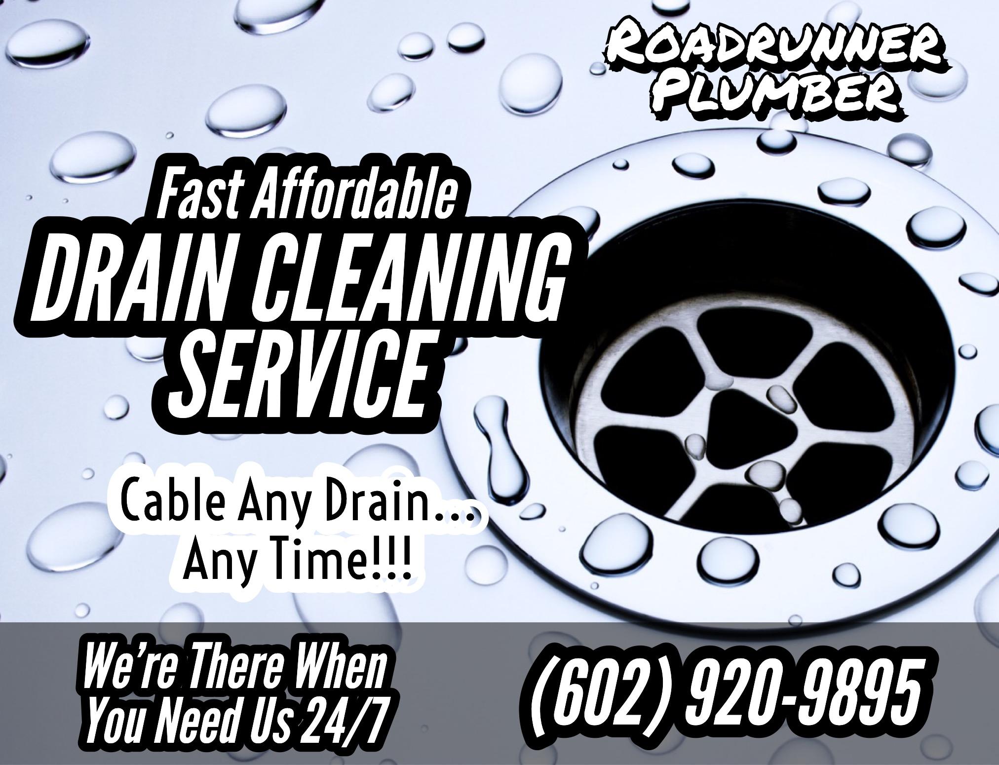 Roadrunner Plumber ☑ Drain Cleaning Service ☑ 24/7 Plumbing