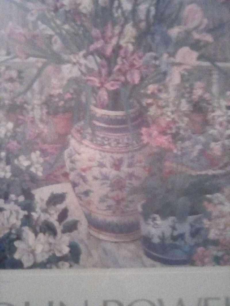 "John Powell titled ""STILL LIFE ON THE VERANDA"" that was done in 1987, 21"" X 25"""