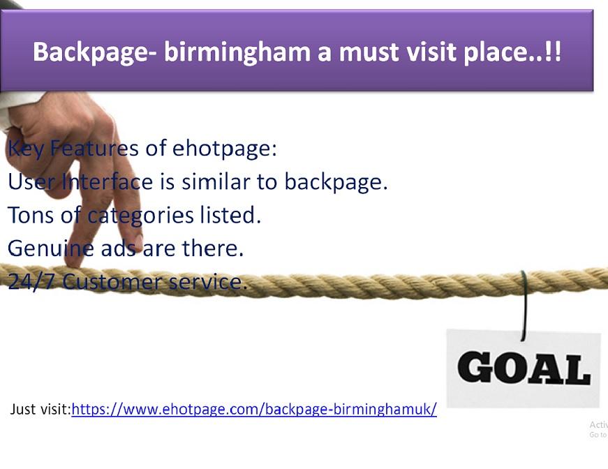 Backpage Birmingham A Must Visit Place