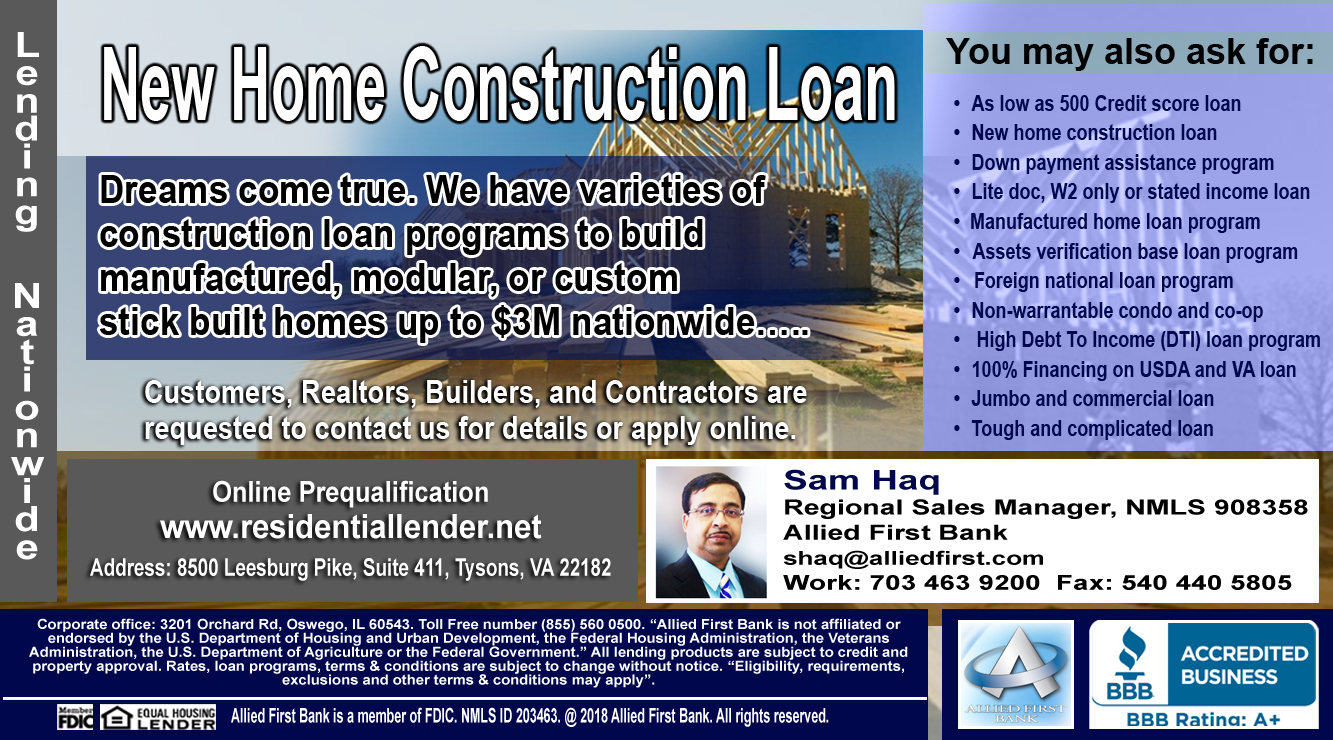 All Types Of Construction Loans in 50 States