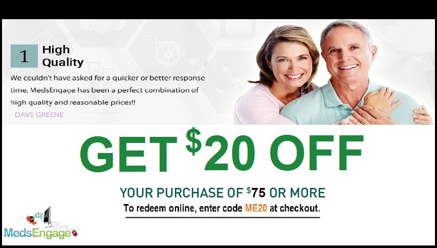 Get $20 Discount on your first Order from Medsengage