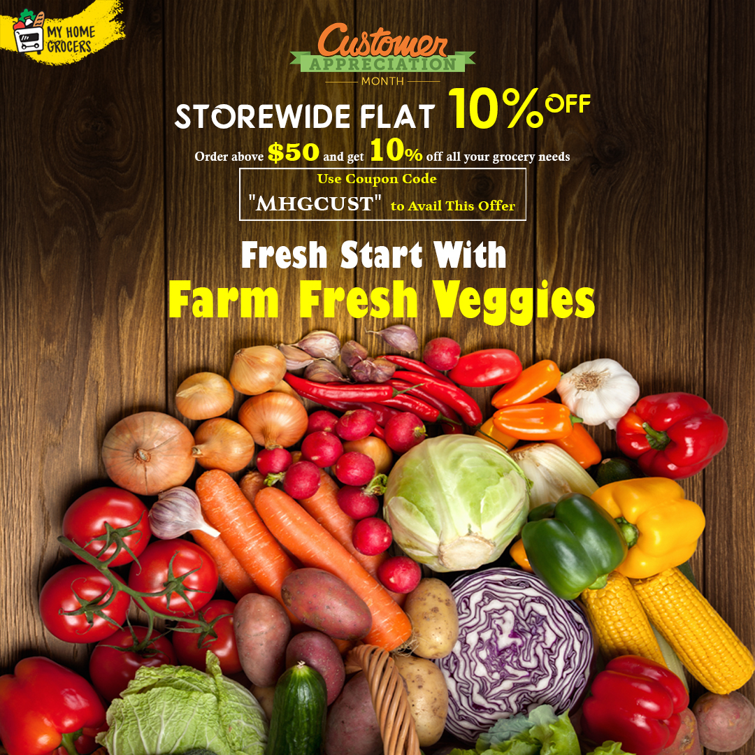 Buy Fresh Veggies Online Frisco,Texas - MyHomeGrocers
