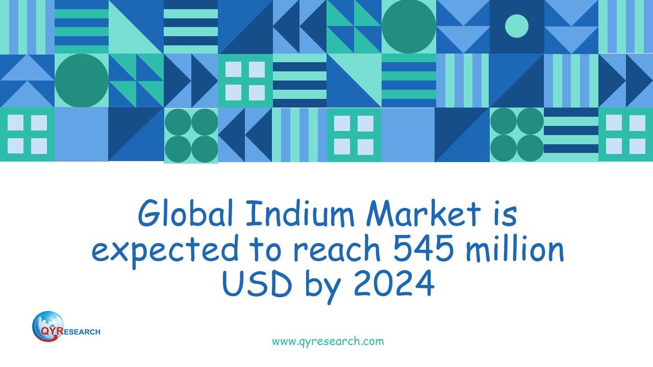 Global Indium Market is expected to reach 545 million USD by 2024