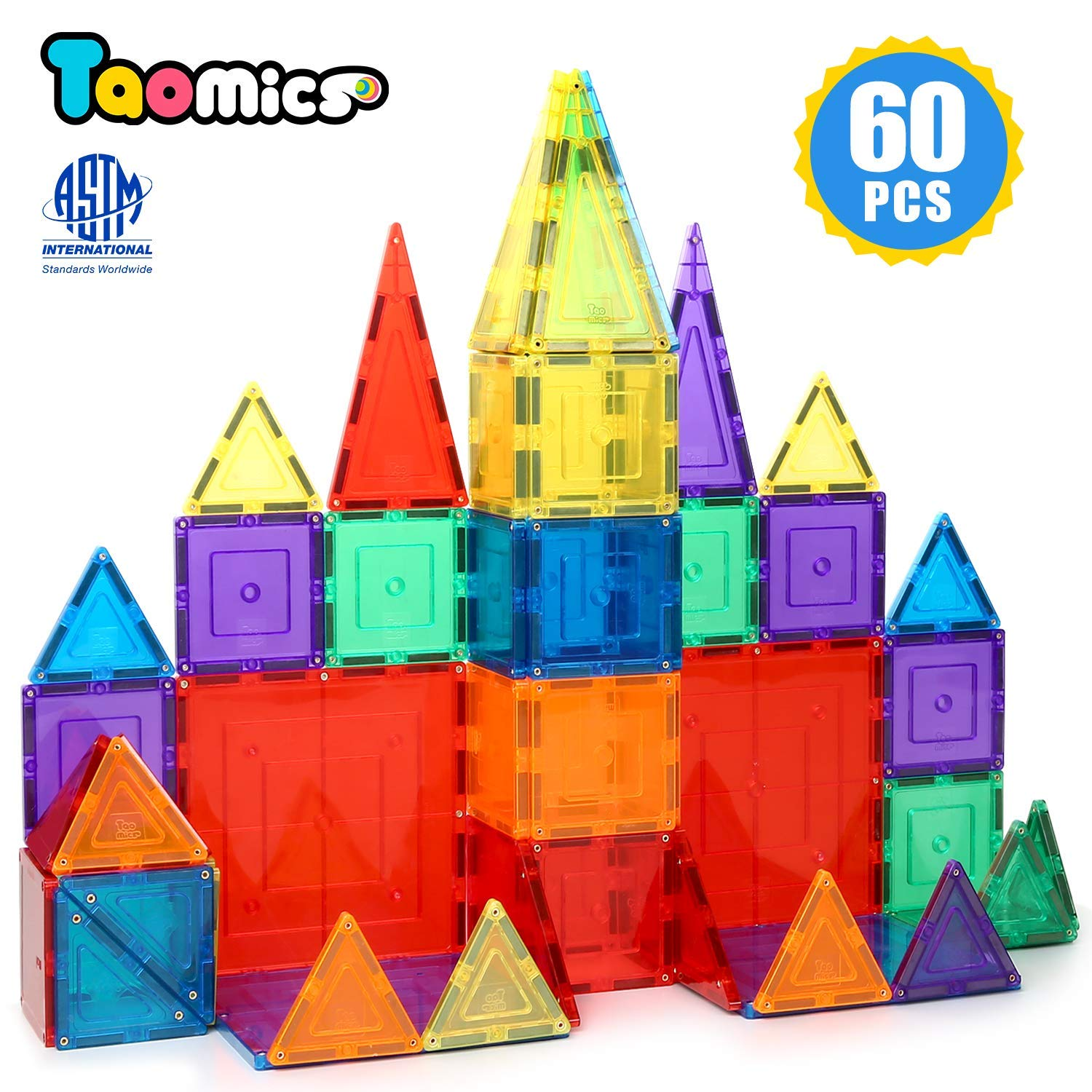 Taomics 60PCS Magnetic Building Blocks