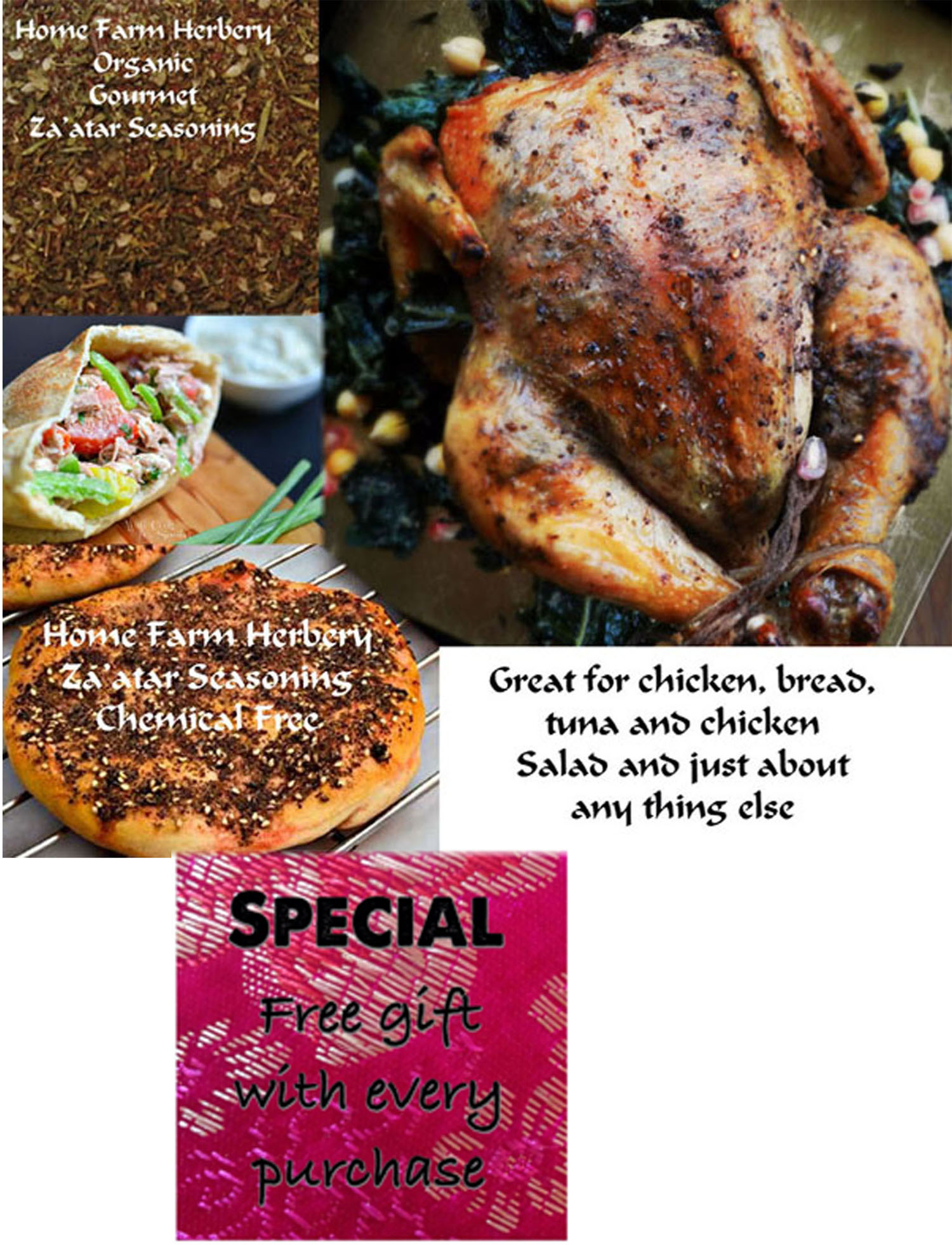 Order the best Za'atar Seasoning now and get a free gift!