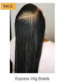 Cornrow Braided Wigs for Sale at Feasible Cost