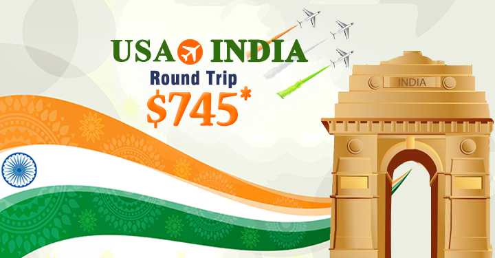 Travel Deals For Republic Day: Round Trip From USA To India Starting From $745*