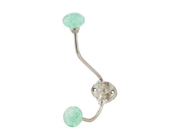 Best Offer on Aqua Bubble Glass Coat Hooks - Set of 2 | Artisanal Creations