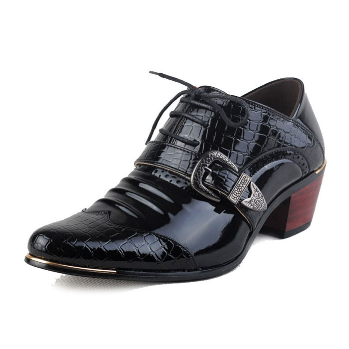 Gentleman Style Men Patent Leather Dress Shoes