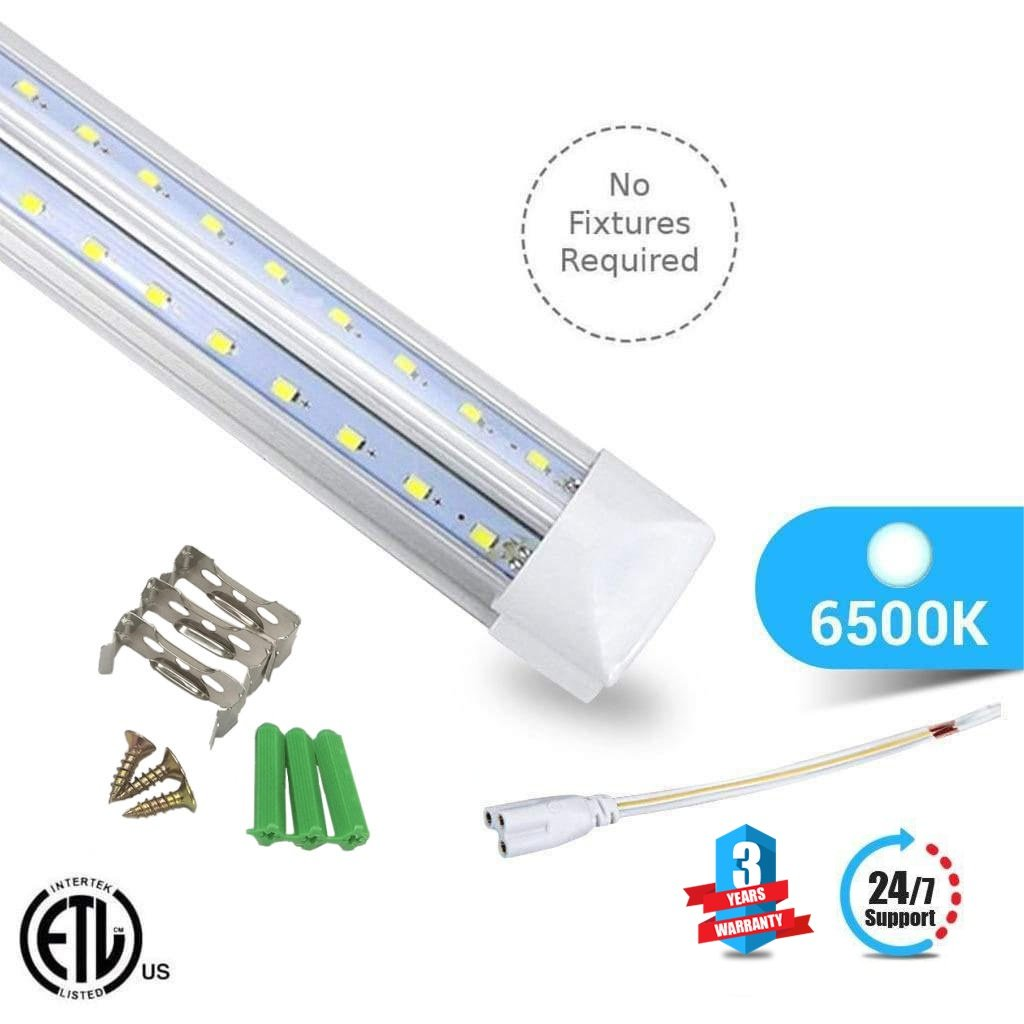 Buy The Best T8 4ft LED Tube 22W V Shape Integrated 2 Row 6500k Clear