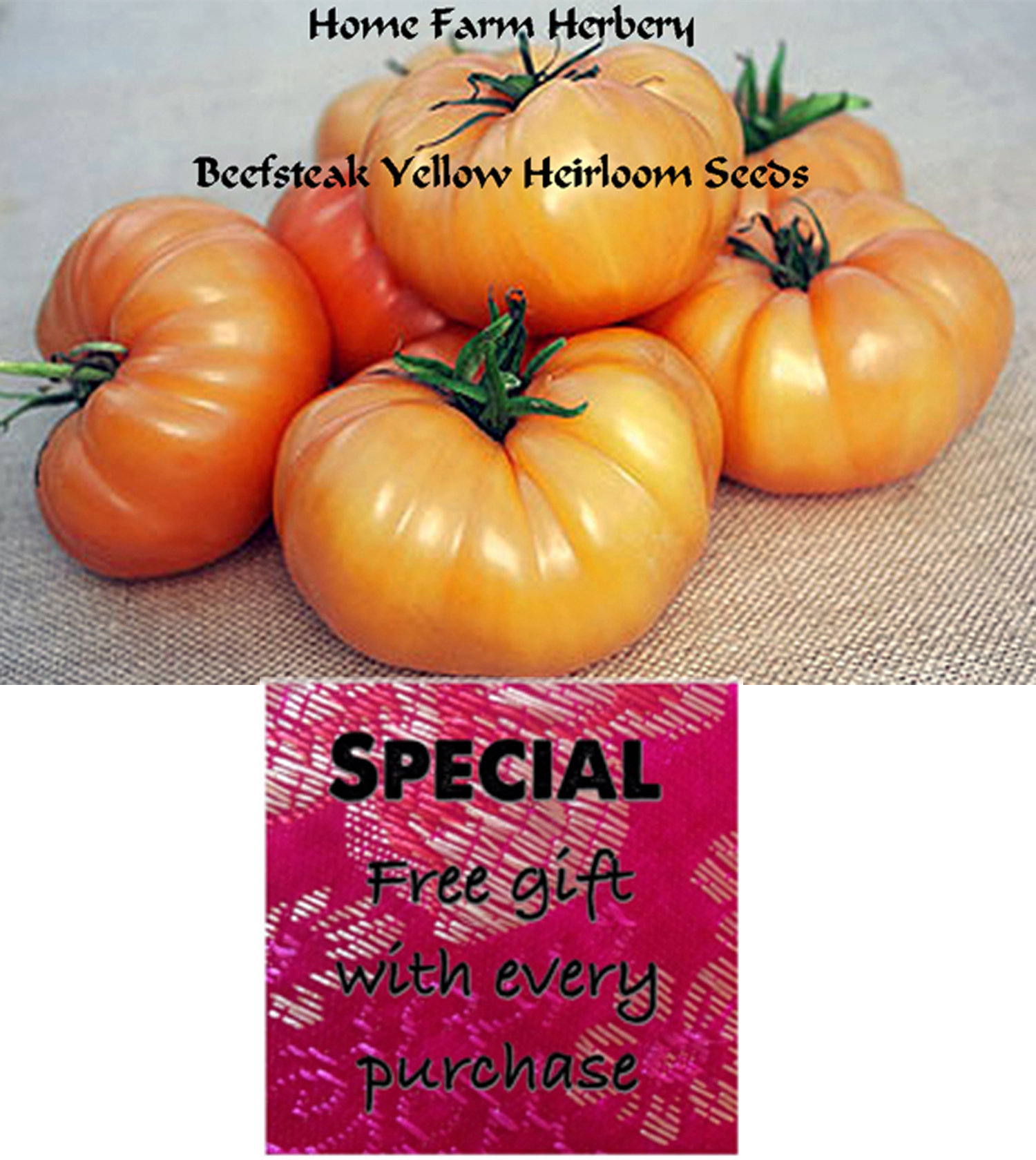 Order the best Beefsteak Yellow Heirloom Tomato Seeds now and get  a free gift