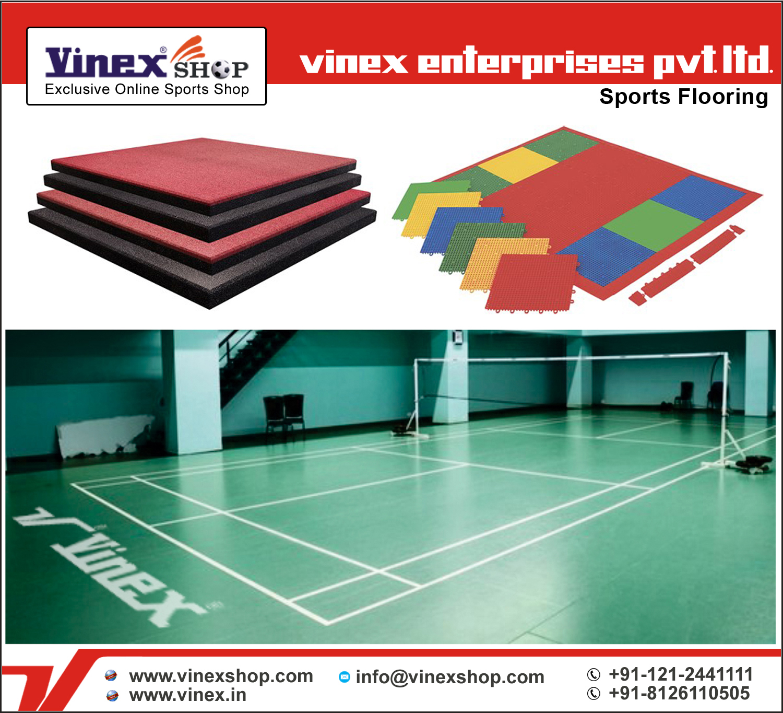 Sports, Badminton, Rubber Flooring Tiles Manufacturer
