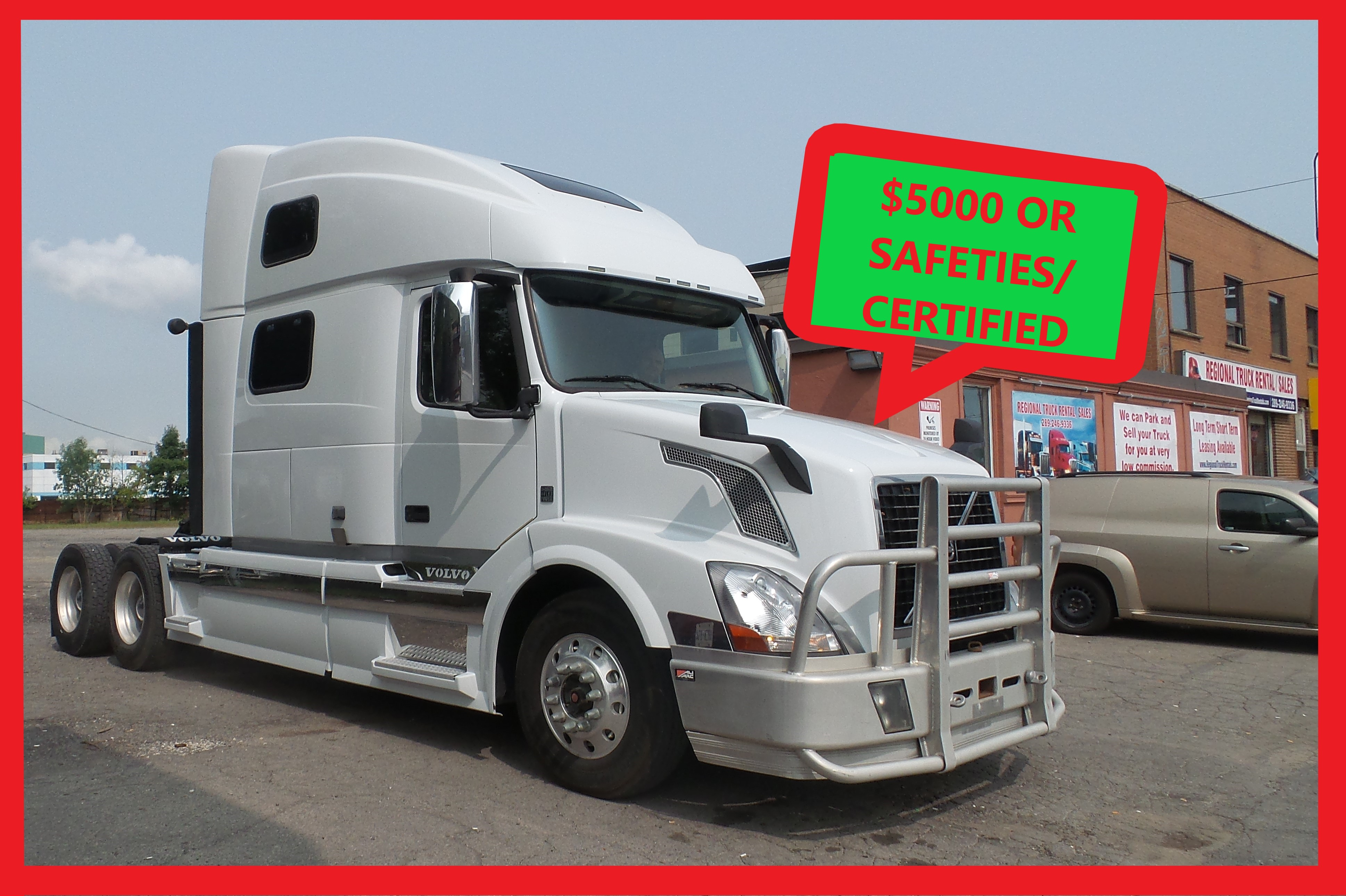Volvo 2013 VNL64T 780 SLEEPER Limited time offer Free all Safeties/Certified or $5,000 Discount