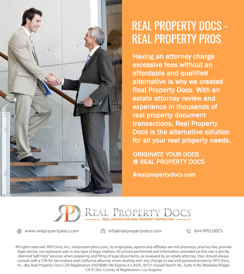 REAL PROPERTY DOCS –  REAL PROPERTY PROS