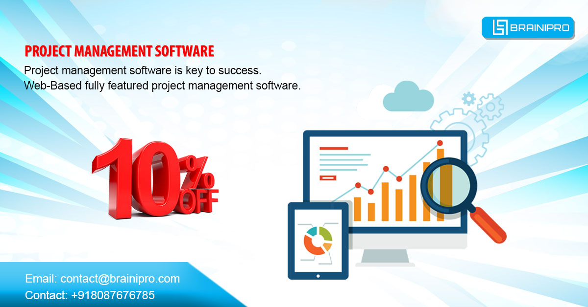 Project Management Software has features to help plan, execute, organize and manage resources