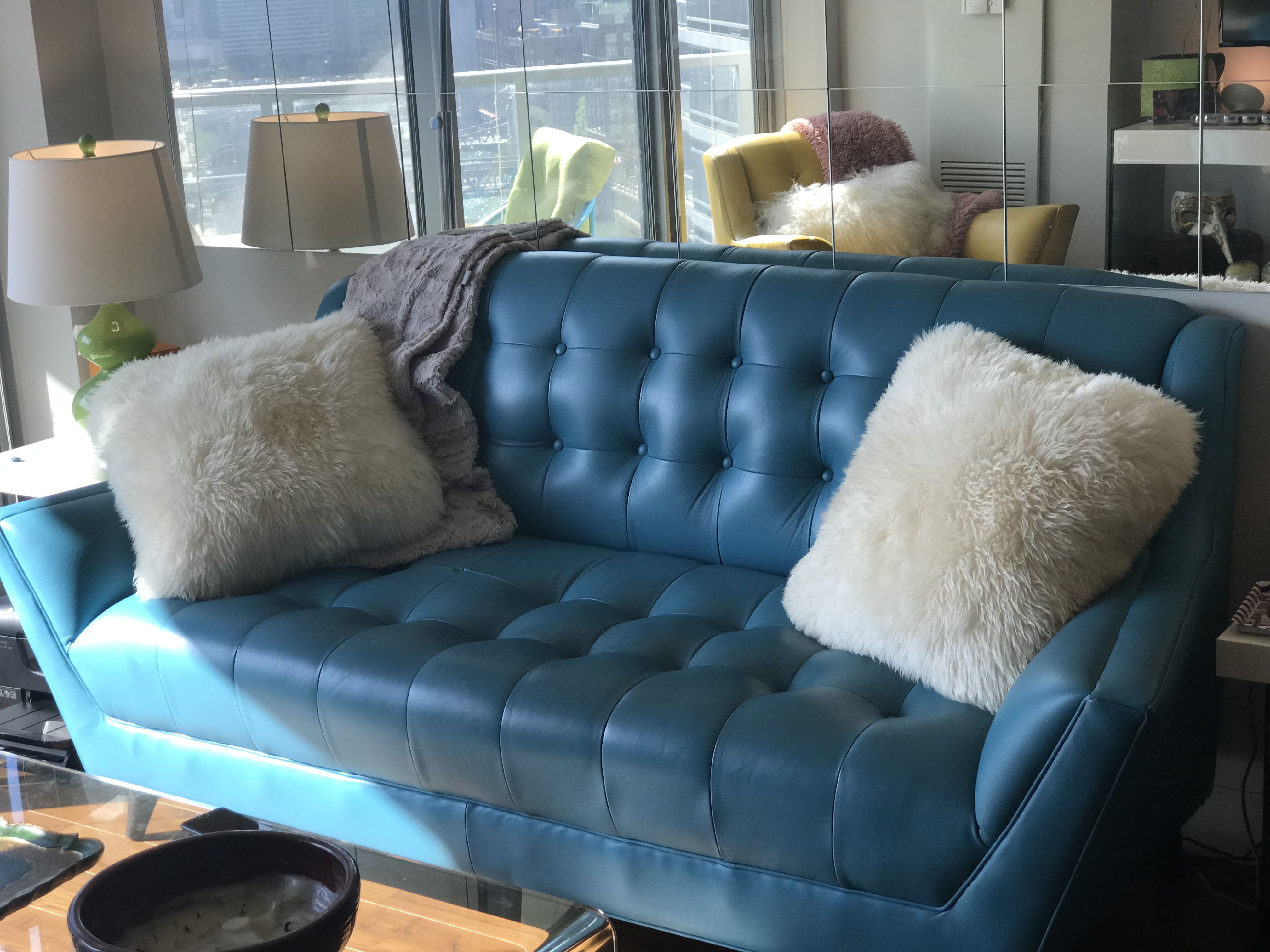 Joybird Fitzgerald Leather Loveseat