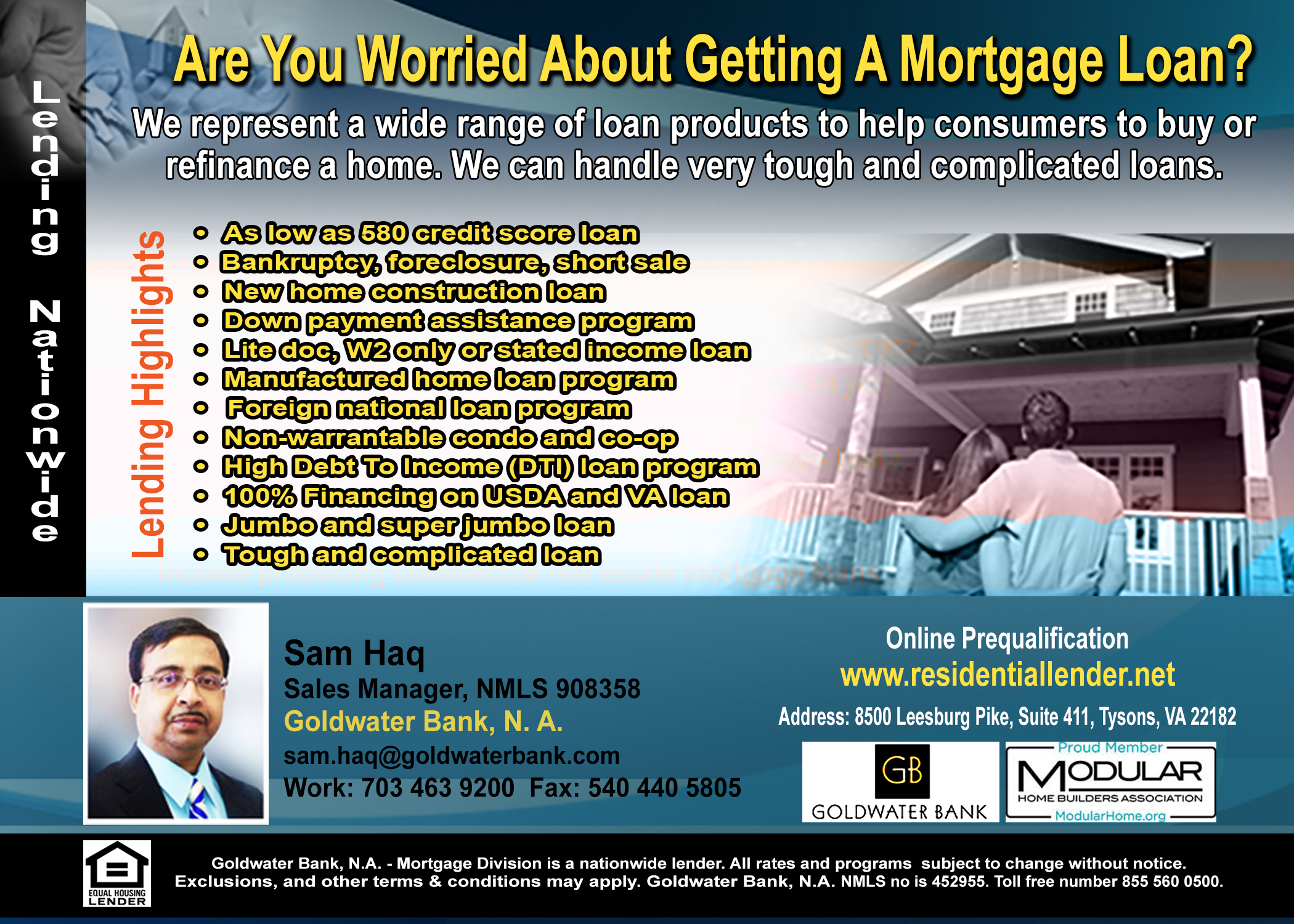 WE CAN CLOSE TOUGH MORTGAGE LOANS NATIONWIDE