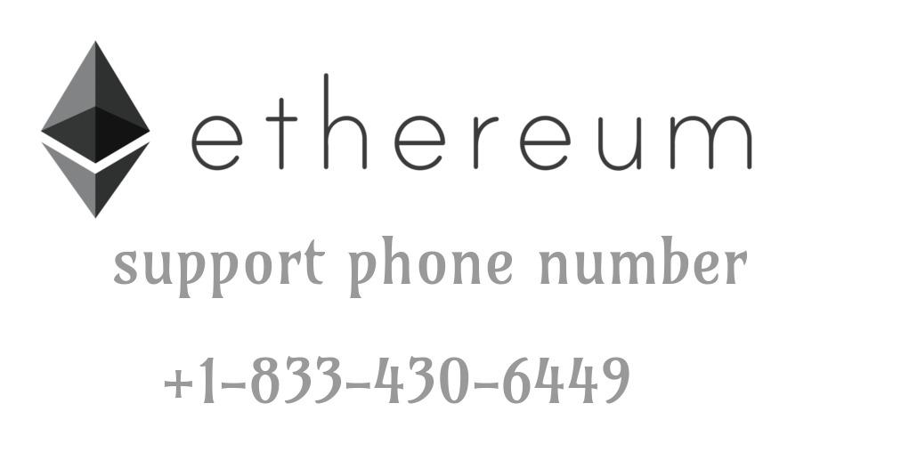 +1-833-430-6449 Ethereum (ETH) customer service number