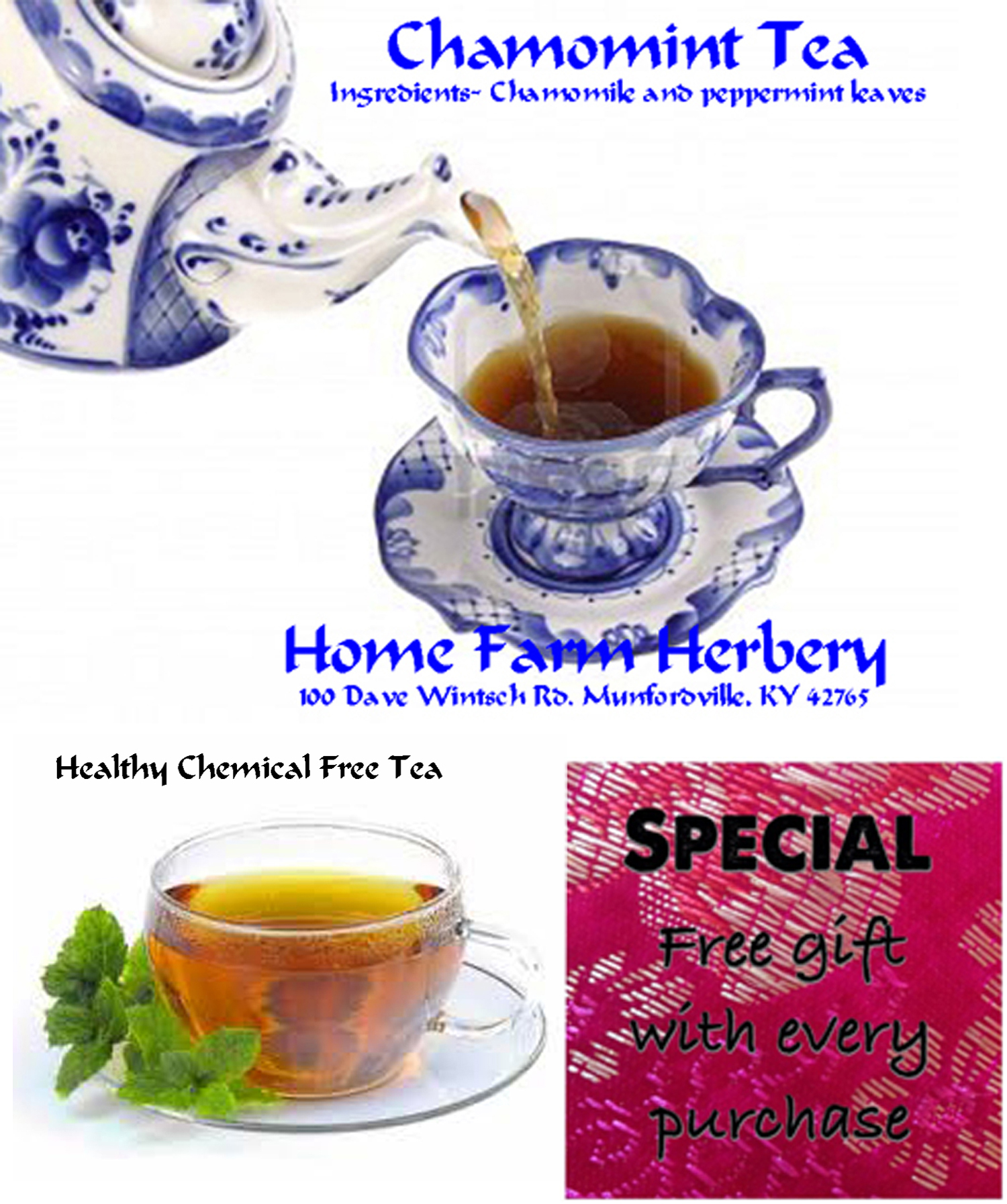 Order Chamomint Tea now & get a free gift today, + big b3g1f sale