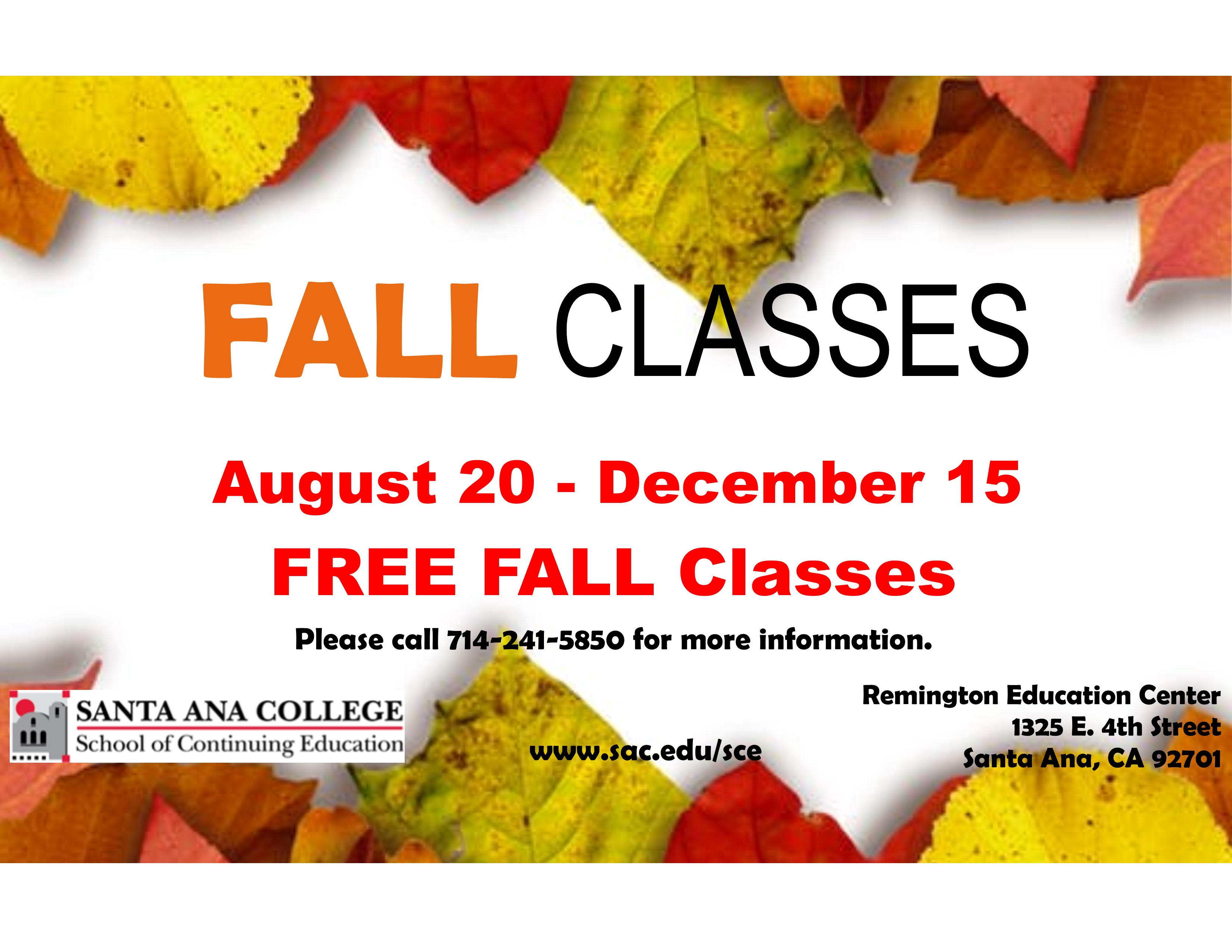 FREE Classes for Adults!