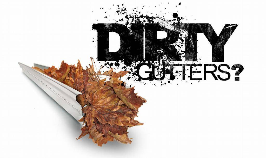 DIRTY GUTTERS? Pressure Washing is the Answer! - Call Us We will Take care of your Dirty Problem