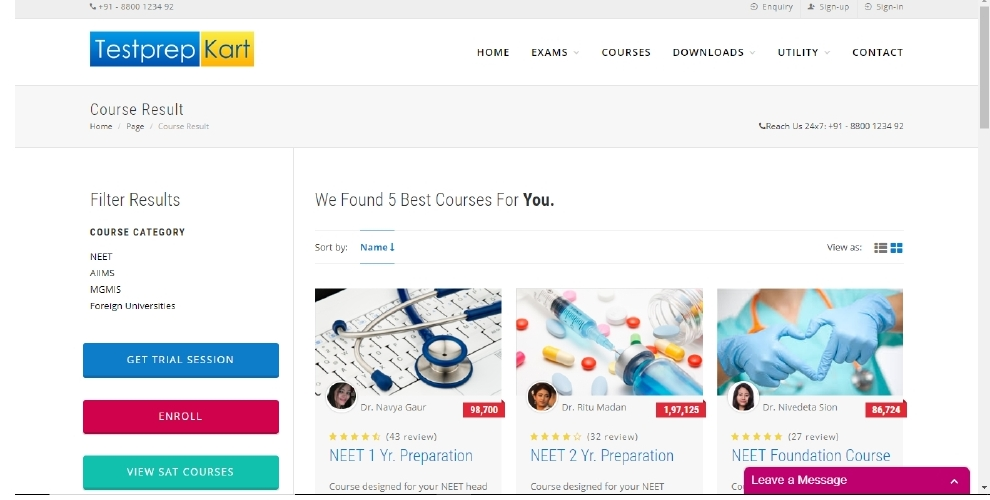 Get the latest NEET free preparation online