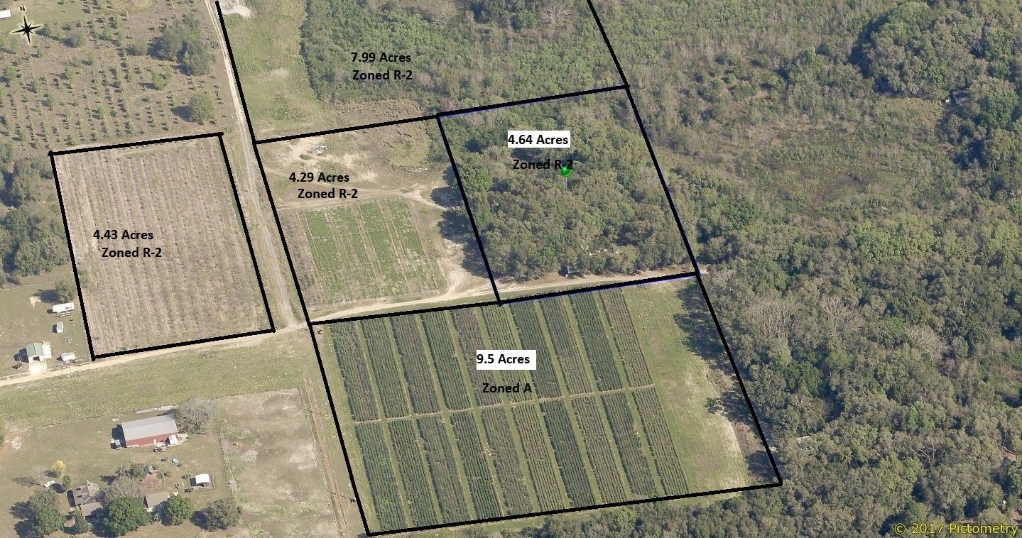 U-Pick Farm. 30.7 acres – 5 Parcels - Florida