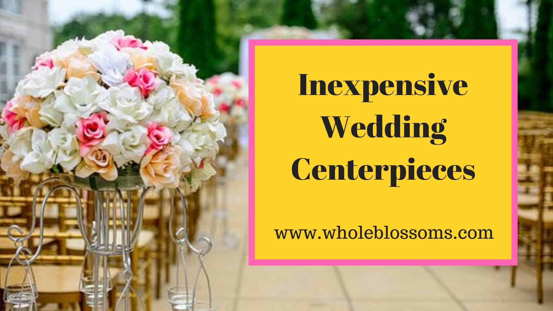 Buy wholesale Wedding Centerpieces for decorating purposes