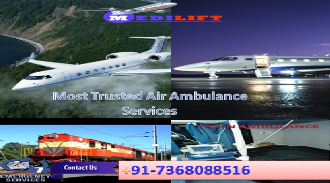 Medilift Air Ambulance from Patna to Delhi Cost with Doctor Team