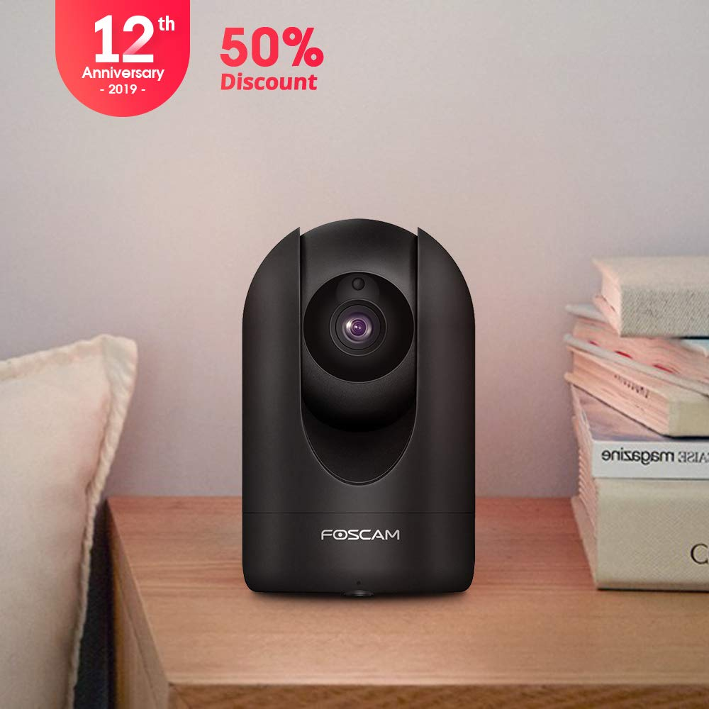 20%off: Foscam R2C 1080P WiFi Camera Black for Pet and Baby