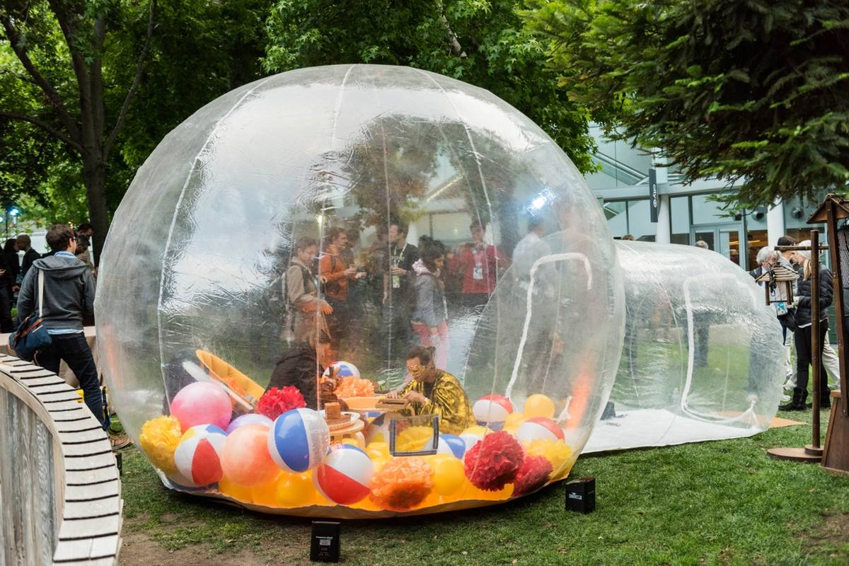 Three Inflatable Bubble Pods/Tents