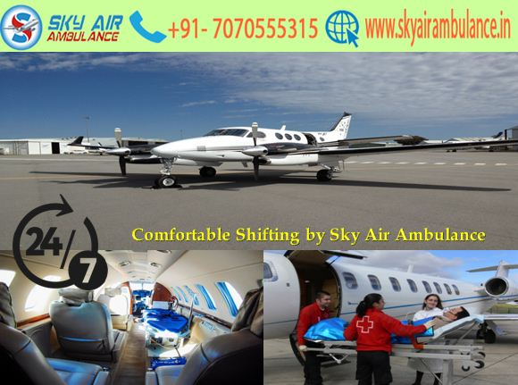 Safe and Credible Shifting by Sky Air Ambulance Service in Siliguri