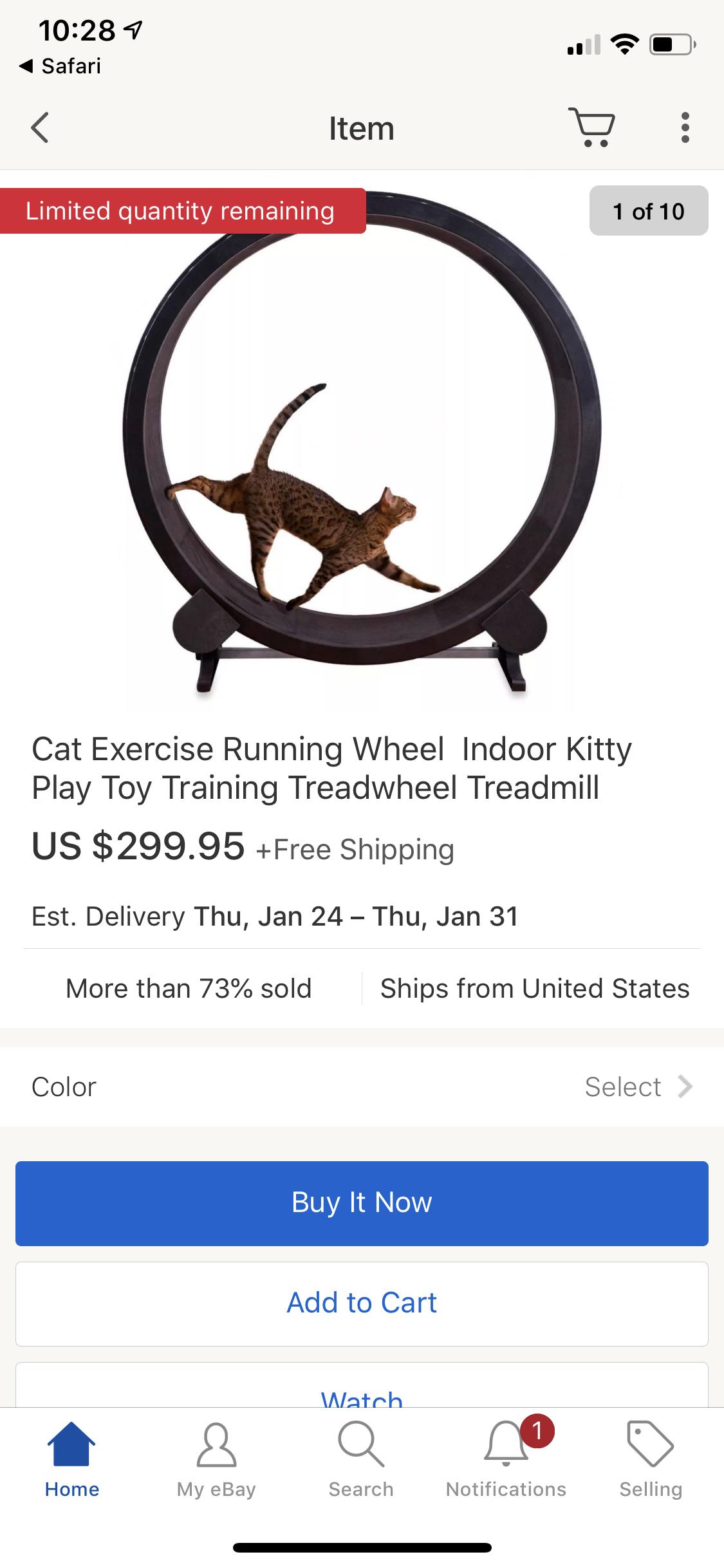 CAT EXERCISE TREADMILL