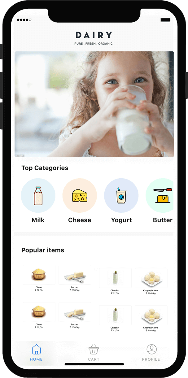 Online App for Milk Delivery