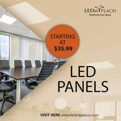 Install LED Panel Lights For Indoor Lighting