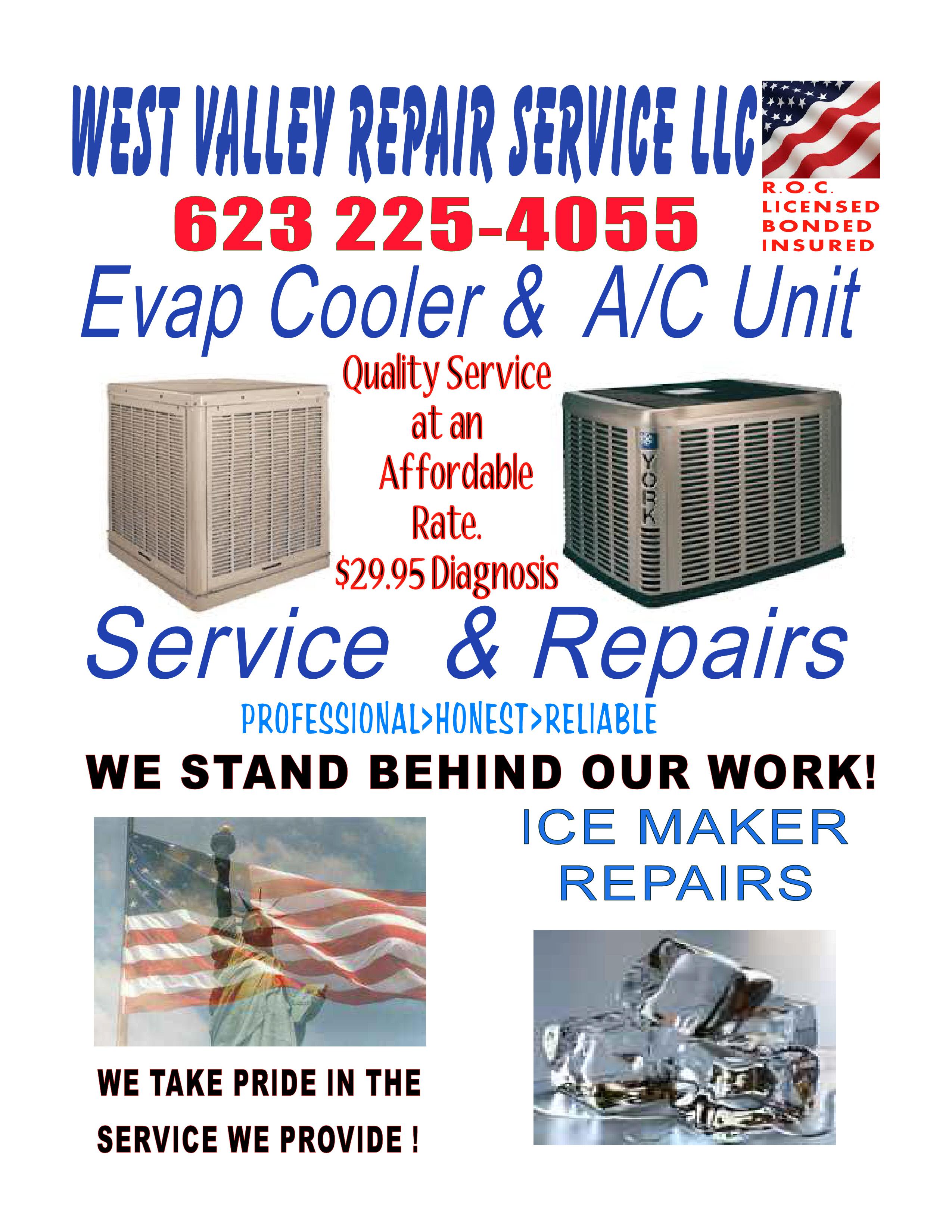Hvac Air conditioner Swamp cooler Repair Service