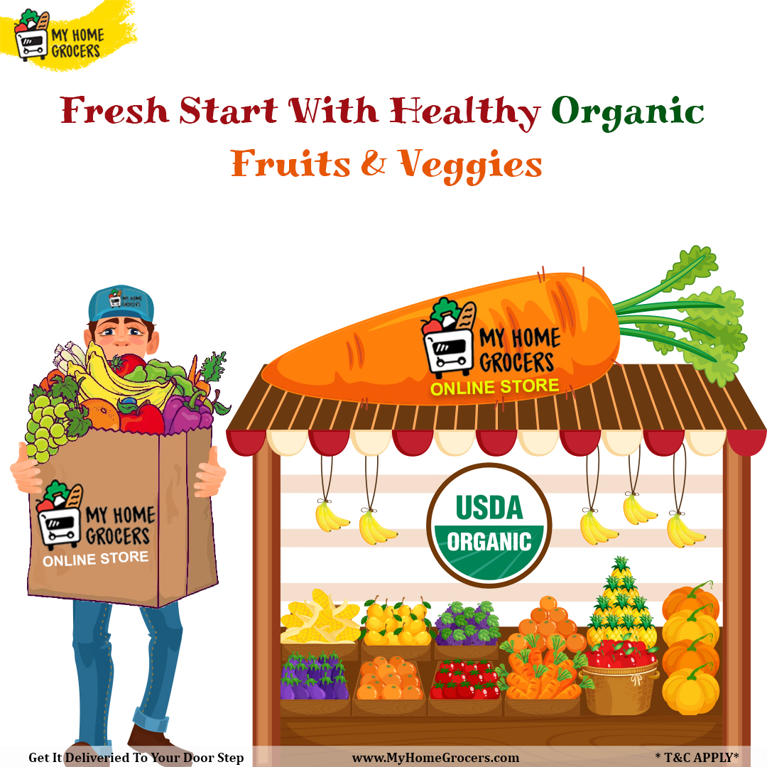 Fresh Start With Healthy Organic Fruits & Veggies Online Wylie,Texas - MyHomeGrocers