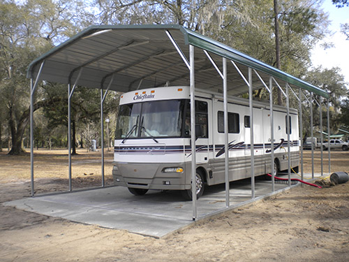 Protect Your RV with and Ideal Steel RV Carport