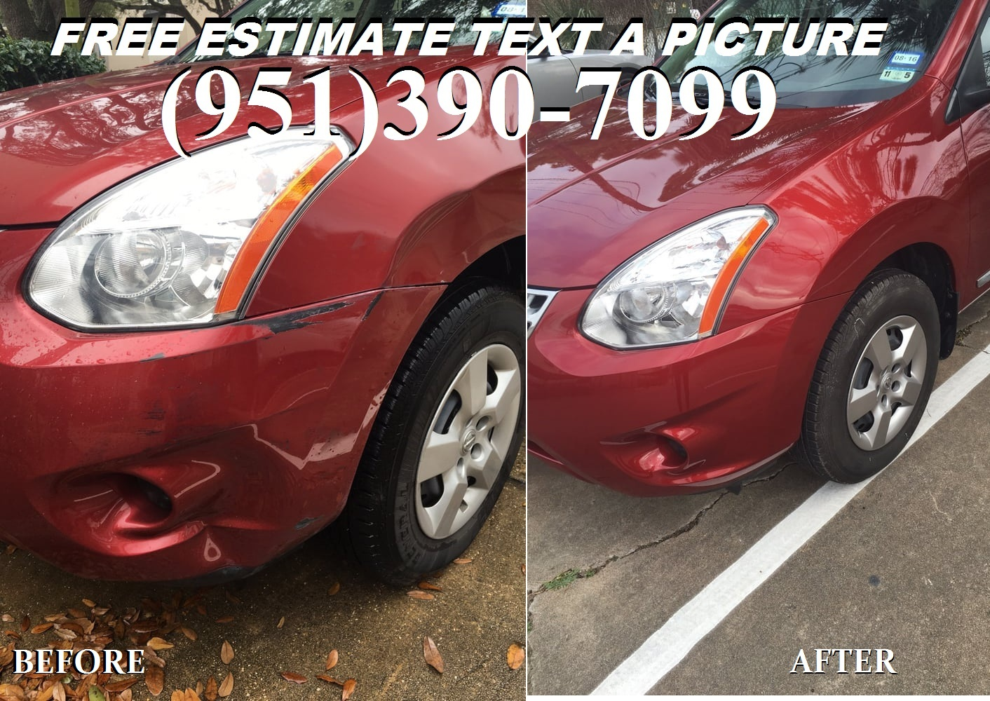 CAR DENT AND PAINT FREE ESTIMATES BY PHONE MOBILE WE COME TO YOU
