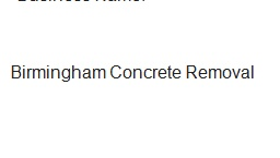 Birmingham Concrete Removal