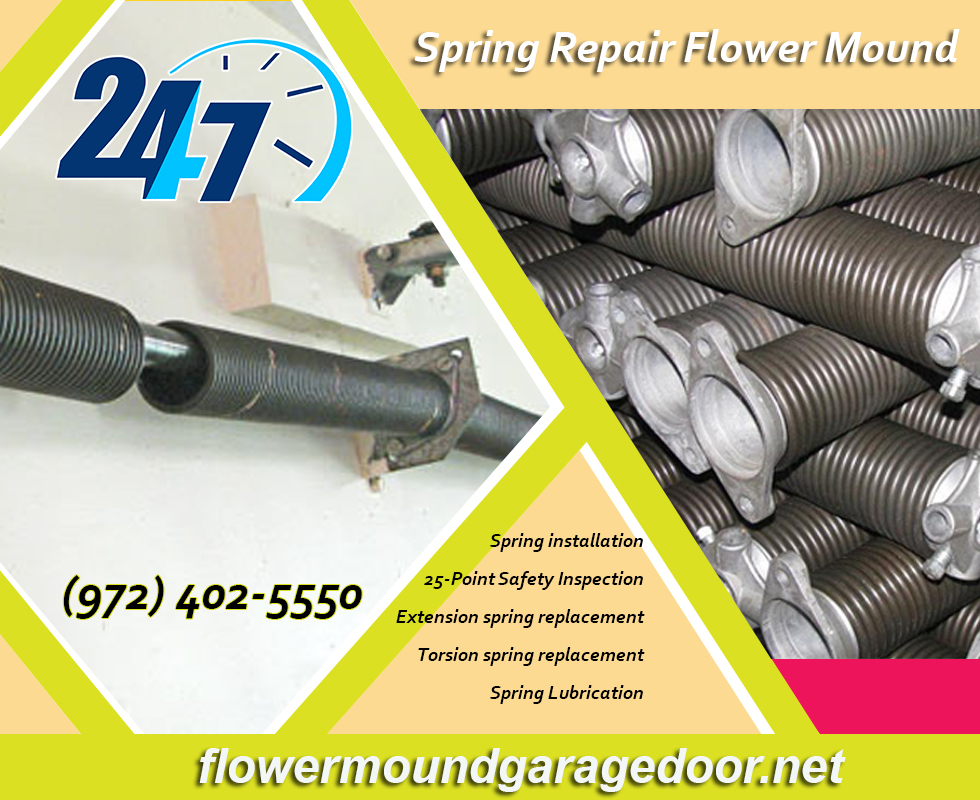 Residential Garage Door Spring Repair ($25.95) | Flower Mound Dallas, 75022 TX