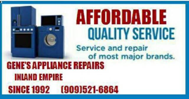Gene's Appliance Repair Services 9095216864