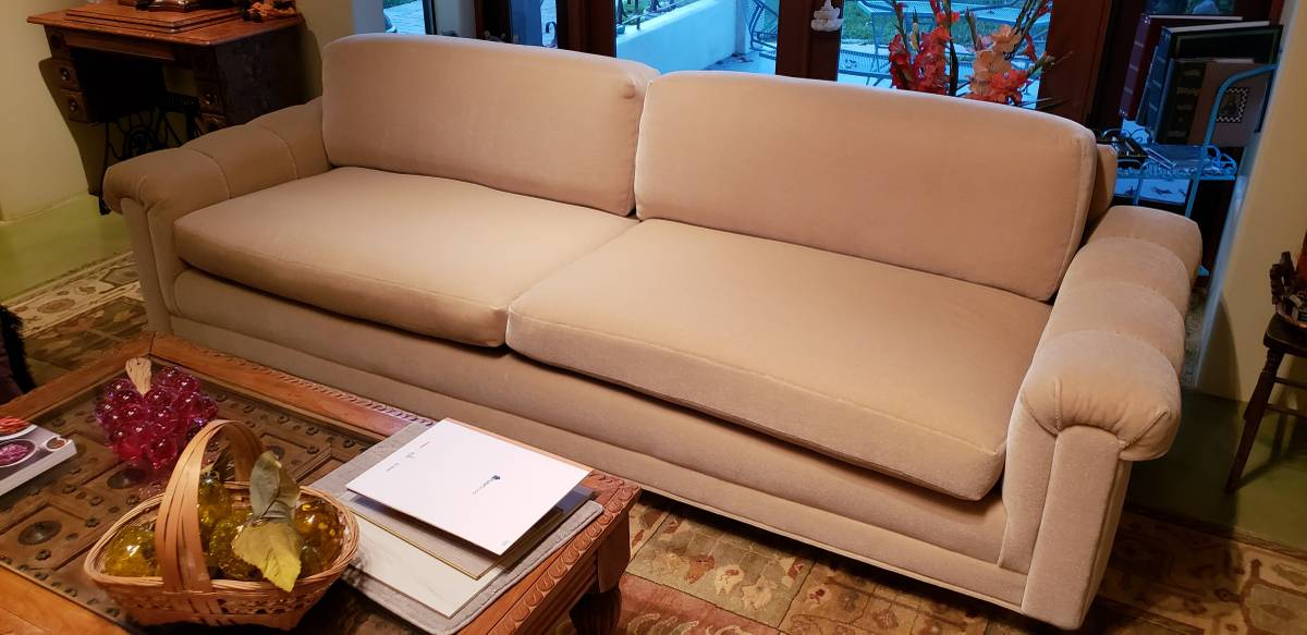 Custom Modern Mohair Couches - like new