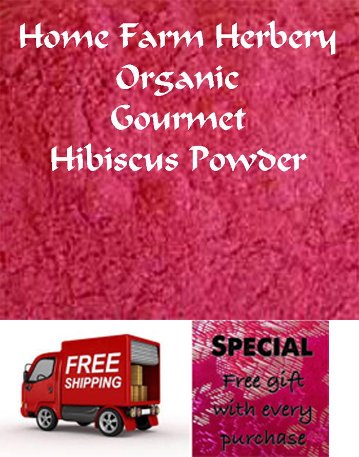 FREE shipping & a FREE gift with Hibiscus Powder (organic), Order now,