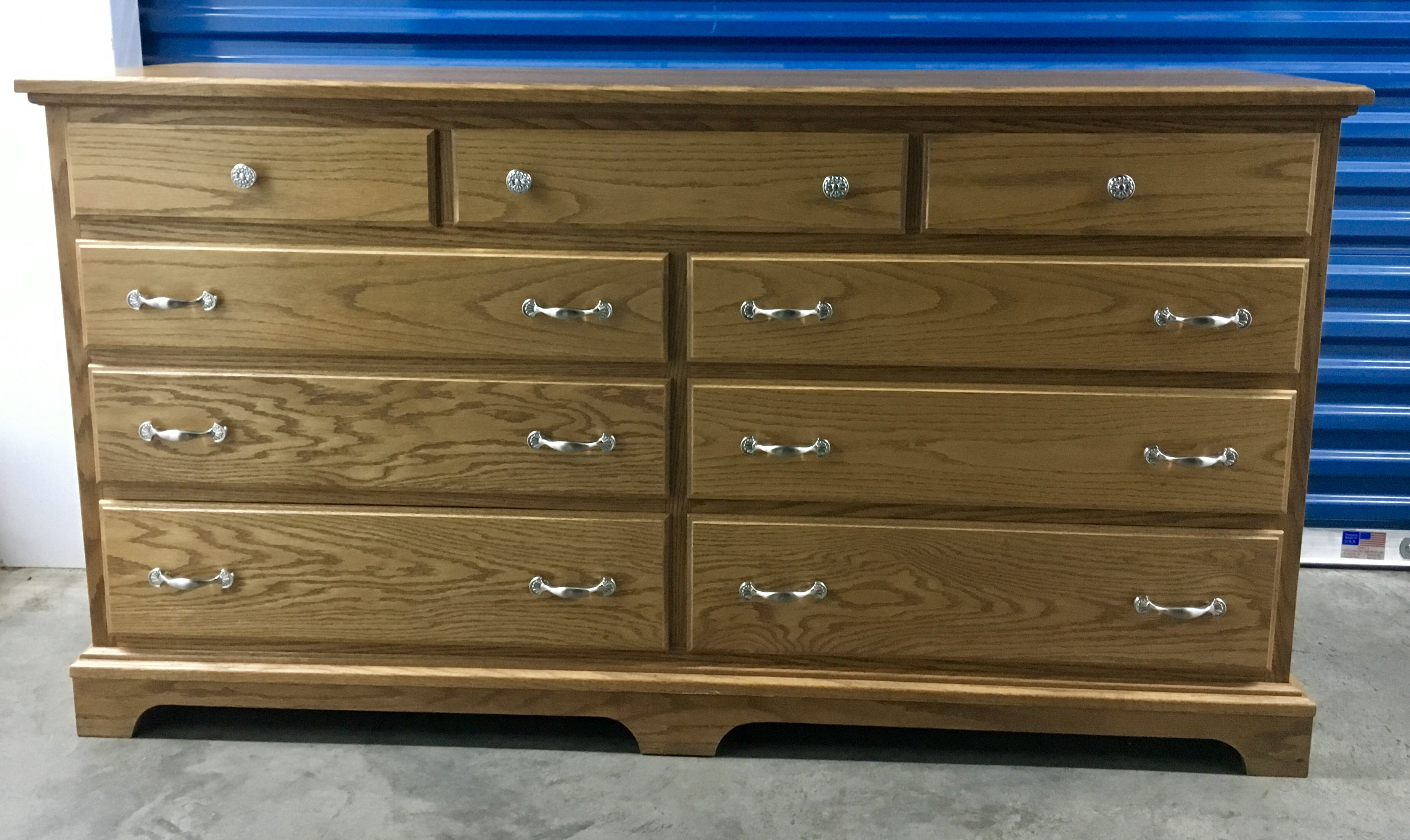Beautiful Oak Pennsylvania Amish Dresser Chest - Custom-made $450.