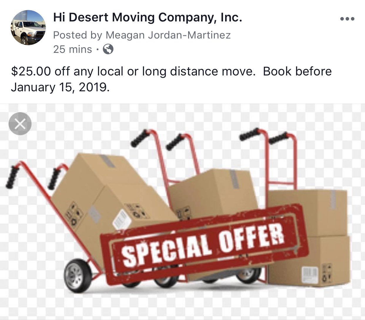 Hi Desert Moving Co, Inc