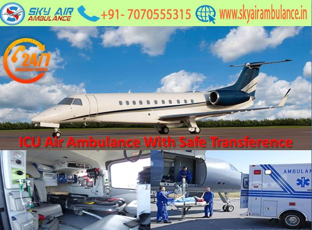 Sky Air Ambulance Service in Bagdogra with Expert Doctor