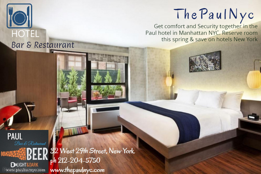 THE PAUL NYC- Save up to 25% today on hotels in Manhattan
